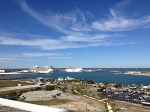 The view of the port from the observation deck!