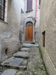"One of the many alleyways leading to our ""home"" in Blevio, Italy."