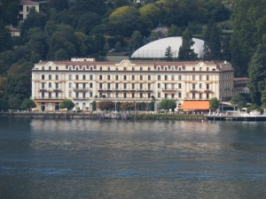 Villa D'Este from across Lake Como.